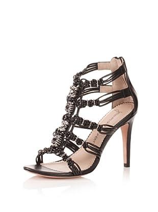 Jean-Michel Cazabat Women's Corina Jeweled Sandal (Black)
