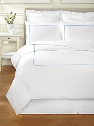 Bella Letto Linee Duvet Set (White/Blue)