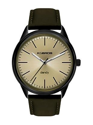 K&BROS 9486-2 / Reloj de Caballero piel