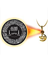 Dijyo Divine Darshan Gold Plated Aya Al Kursi Islamic Pendant For Unisex