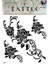 GGSELL GGSELL KING HORSE Large size 11.81 x 8.66 Inches new big design black rose temporary tattoo stckers
