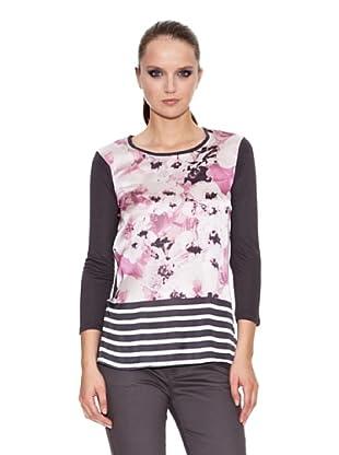 Trucco Camiseta Printis (Gris Medio / Rosa)