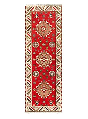 Hand-Knotted Royal Kazak Wool Rug, Red, 2' 10