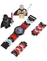 LEGO Kids' 9001192 Star Wars Darth Vader vs. Obi-Wan Kenobi Multicolor-Plastic Bracelet Watch With Two Minifigures