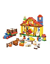 Sluban M38-B6020 Lego Happy Farm Educational Toy, Multi Colour