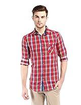 Vintage Red Slim Fit Shirts