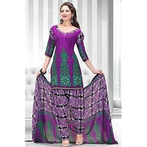 Shringaar Ras Purple Women - Dress Material