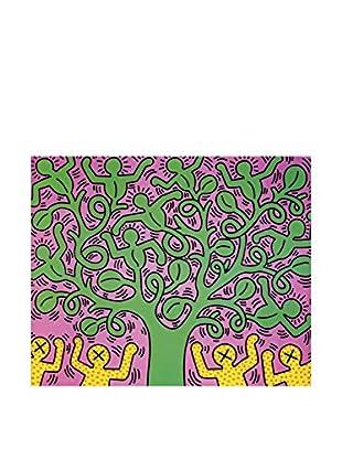 ArtopWeb Panel de Madera Haring Albero Della Vita 60X50 cm