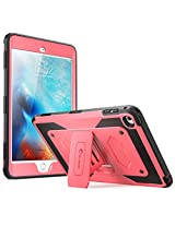 iPad Mini 4 Case, [Heave Duty] i-Blason Apple iPad Mini 4 2015 Armorbox [Dual Layer] Hybrid Full-body Protective Kickstand Case with Front Cover and Built-in Screen Protector / Bumpers (Pink)