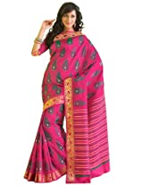 Orbymart Exclusive Designer Raw Silk Multi Colour Printed Saree - 55253866