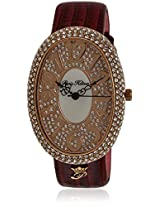 H Ph13574jsr/32 Maroon/Silver Analog Watch Paris Hilton