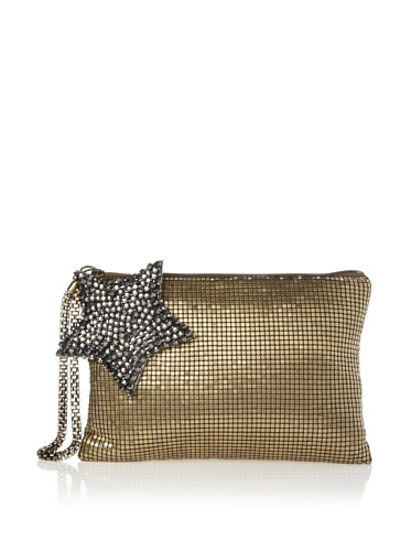 Felix Rey Women's Superstar Mesh Clutch with Wristlet (Antique Gold)