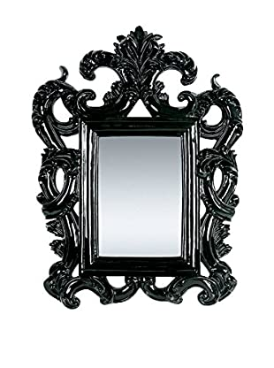 Asian Loft Modern Neoclassical French Mirror, Black