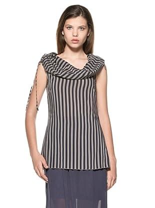 Eccentrica Camiseta Kayleigh (Marino/Gris)