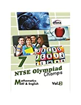 NTSE-NMMS/Olympiads Champs Class 7 Mathematics/Mental Ability English - Vol. 2