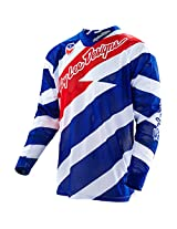 Troy Lee Designs SE Air Caution Jersey - Large/White/Navy