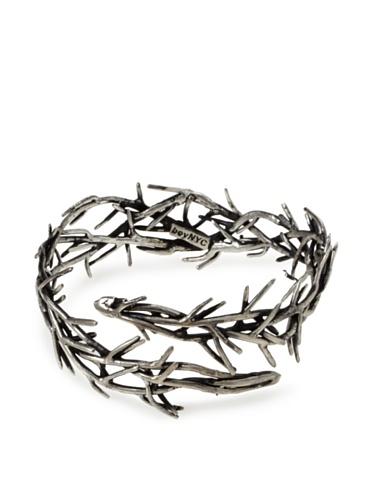 BoyNYC Silver Thorn Multi Cuff Bracelet