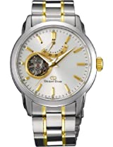 Orinet Star Automatic Men White Dial Silver Metal Strap Round Shap, Made in Japan