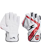 SS Dragon Youth Wicket Keeping Gloves (White/Black)