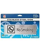 Self Adhesive Stainless Steel No Smoking Metal Signage Board