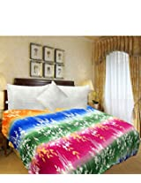 Tanya's Homes Multipurpose Poly Wool Double Bed Duvet or AC Blanket with Zipper - Multi Colour