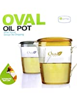 Homio 400 ml Oval Oil Pot with No Dripping Beak Snout Design Automatic Reflow
