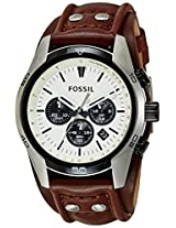 Fossil End-of-season Coachman Chronograph White Dial Men's Watch - CH2890