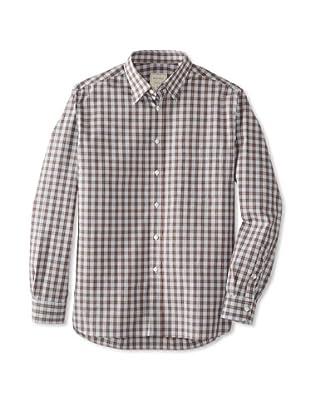 Billy Reid Men's Orleans Woven Shirt (Navy/Orange)