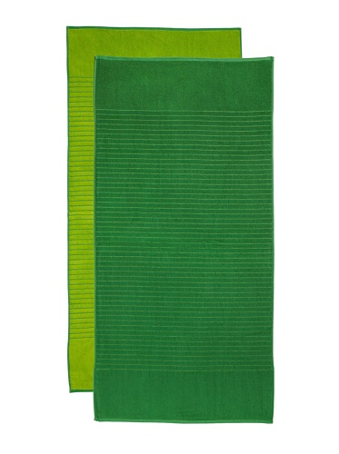 Espalma Jumbo Reversible 2-Piece Beach Towel Set, Dark Lime/Lime
