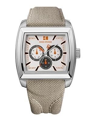 Boss Orange 1512605 - Reloj de Caballero movimiento de quarzo con correa téxtil beige