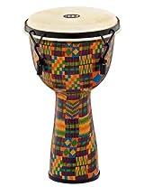 Meinl Percussion FMDJ2-L-G Mechanical Tuned Fiberglass Djembe 12-Inch Goat Head - Kenyan Quilt