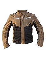 Mototech Waxed Cotton Contour Air Riding Jacket (Sandstone, X-Large)