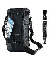JJC DLP-6 Deluxe Lens Pouch for Canon Zoom Lens EF 100-400mm 1:4.5-5.6L IS Ultrasonic EF 70-200mm or Nikon AF Nikkor 80-200mm + Lenspen NLP-1 Cleaning Brush (Black)