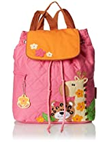 Stephen Joseph Girls' Quilted Backpack, Girl Zoo, One Size