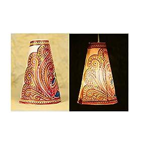 Moya Twin Peacocks N Foliage, Cone Hanging Lamp