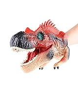 Himine Simulation Plastic Dinosaur Hand Puppet Toy (Red Allosaurus)
