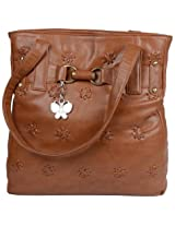 Butterflies Women's Handbag (Rust) (BNS 0169)