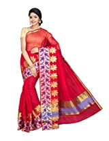Korni Cotton Silk Banarasi Saree ISL-669- Red KR0435