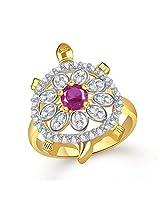 Tortoise Rings For Girls ,Women Gold Plated In American Diamond Cz Jewellery FR531(15)