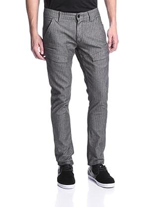 Mondo di Marco Men's Skinny Leg Herringbone Jean (Lead Grey)
