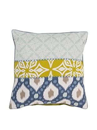 Surya Patterned Throw Pillow, Misty Blue