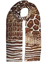 Shopatplaces Cashmere Stole In White-Brown