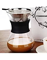 Clever Coffee Dripper Pure Over Coffee Maker Permanent Reusable Stainless Steel Coffee Filter Brewer Pyrex Glass Paperless Cone Coffee 3 Cup -Comenzar