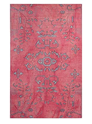 Meva Rugs Medallion Hand Knotted Rug, Pink, 2' x 3'