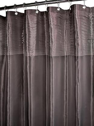 Park B. Smith Tuxedo Pleat Shower Curtain (Platinum)