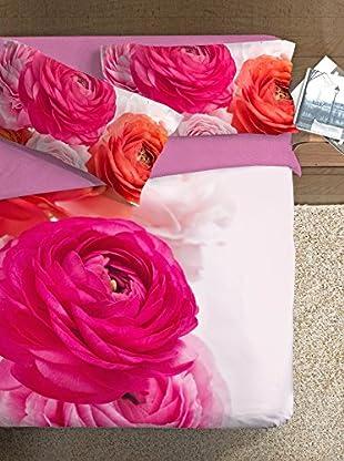 Ipersan Bettbezug Parure Copripiumino Fotografico Piazzato Fine Art Disegno Bouquet