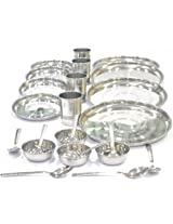 Fantasy Crystal Stainless Steel Dinner Set24 Pieces