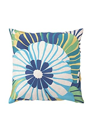 Trina Turk Sea Floral Embroidered Pillow (Blue)