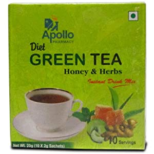 Apollo Pharmacy Diet Green Tea Honey& Herbs