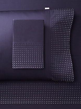 Belle Époque Home Concept Collection Pin Point Sheet Set (Navy)